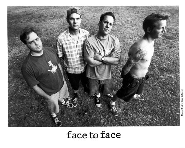 Face To Face in a very early promo photo by Lisa Johnson Rock Photographer.